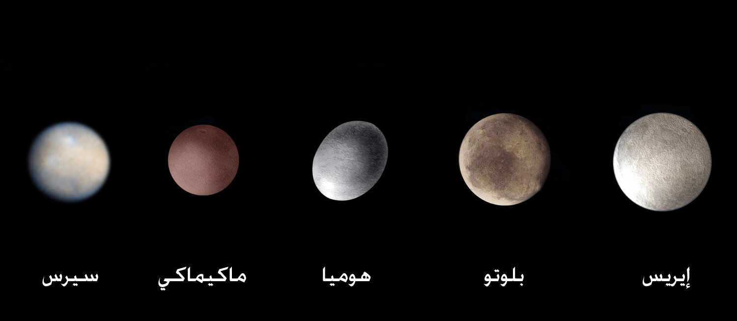 dwarf planets in our solar system - 1500×653