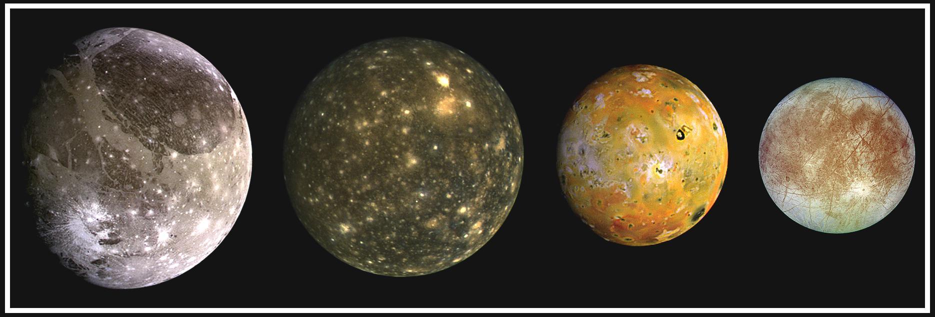أقمار كوكب المشتري - الكون بالعربية