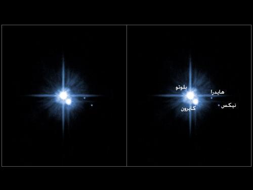 الكوكب القزمي بلوتو وأقماره الثلاثة
