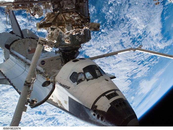 التحام المكوك بمحطة الفضاء